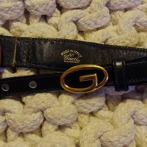 Navy Gucci belt 1980's